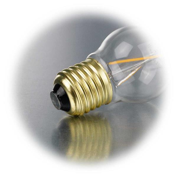 LED Lampe mit Sockel E27 für 230V mit nur 2W Verbrauch