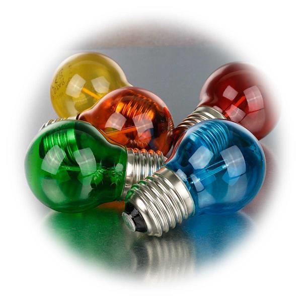 LED Lampen mit Sockel E27 für 230V mit nur 0,7-0,9W