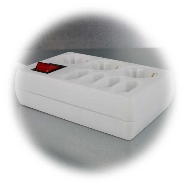 Mehrfachsteckdose mit Schutz-Kontakt-Steckdosen und Euro-Steckdosen
