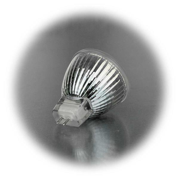 LED Leuchte MR11 12V AC/DC für Sockel GU4 und 3,4W Verbrauch