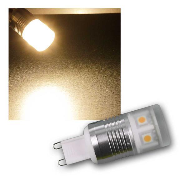 G9 LED Birne, 11x SMD, warmweiß 230lm, 3W/230V
