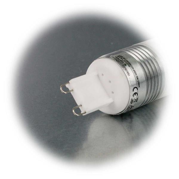 LED Energiesparleuchte 230V Sockel G9 mit nur ca. 3W Verbrauch