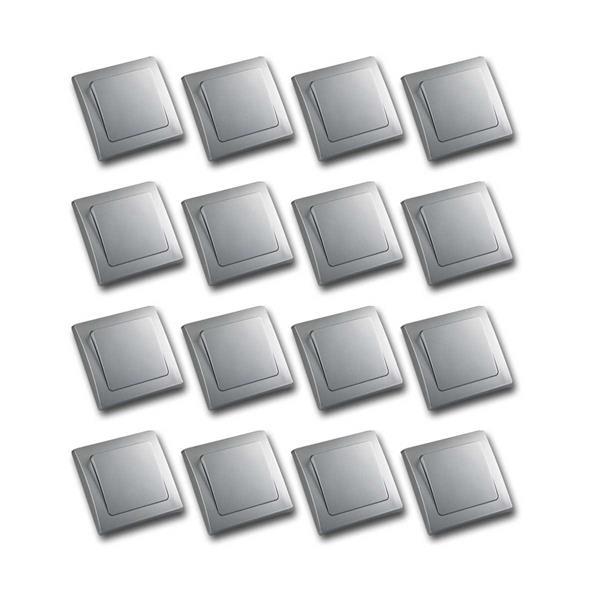 DELPHI 16er Set Wechsel-Schalter silber 250V~/ 10A