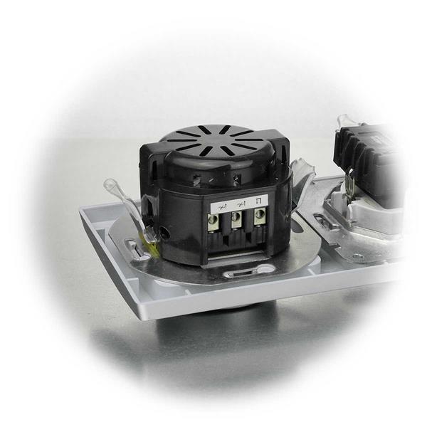 Steckdose und Dimmer komplett mit Schaltereinsatz und Doppelrahmen