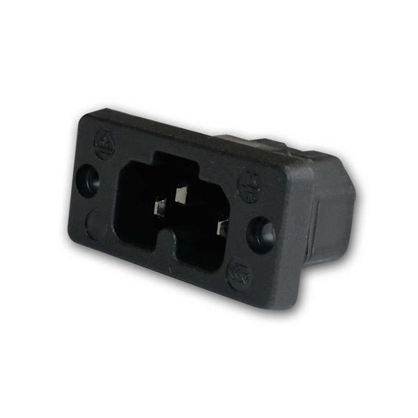 Heißgeräte Buchse / Einbaubuchse schwarz 230V/10A