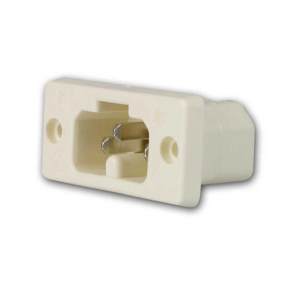 Heißgeräte Buchse / Einbaubuchse weiß 230V/10A