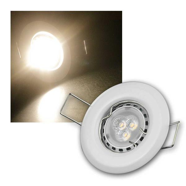 3er Set 3W ww LED Power Einbauleuchten Weiß starr