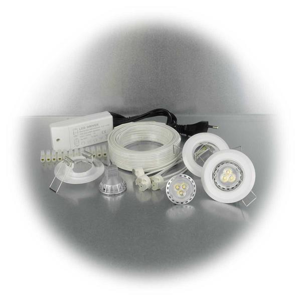 LED Downlight mit ca. 180lm Lichtstrom in einem starren Rahmen