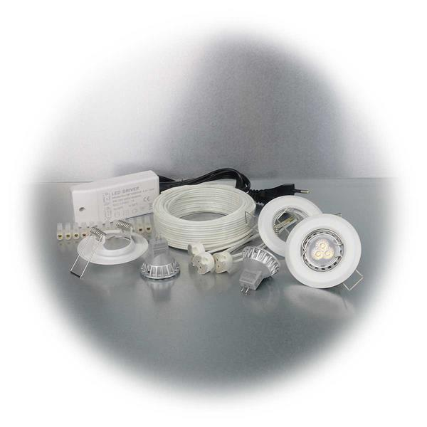 LED Downlight mit ca. 200lm Lichtstrom in einem starren Rahmen
