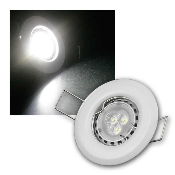 5er Set 3W kw LED Power Einbauleuchten Weiß starr