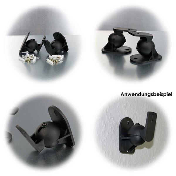 2er Set  dreh-/neigbare Lautsprecherhalter in  3 Farben