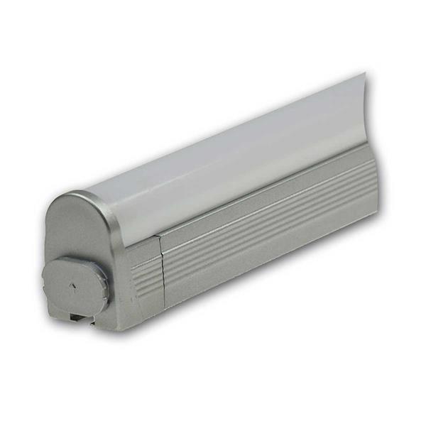 LED Aufbauleuchte mit satinierter Abdeckung für blendfreies Licht