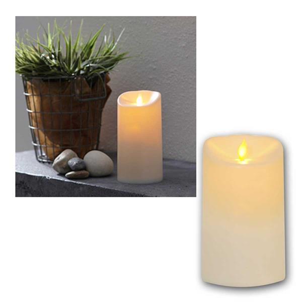 LED Außen Kerze Twinkle mit Timer, 15cm / Ø 9cm