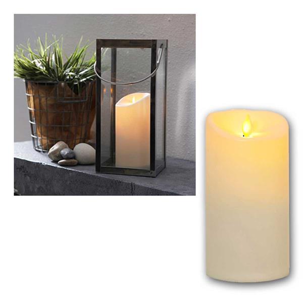 LED Außen Kerze Twinkle mit Timer, 17,5cm / Ø 9cm