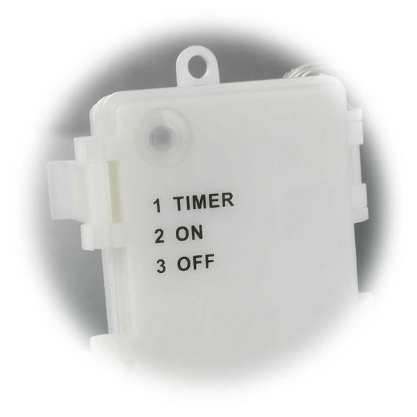 batteriebetriebene LED Lichterkette mit Timerfunktion