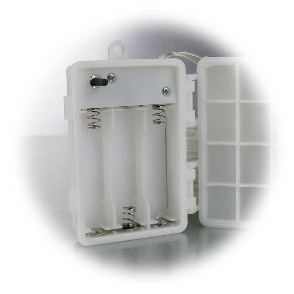 LED Batterie Lichterkette für drei AA Batterien