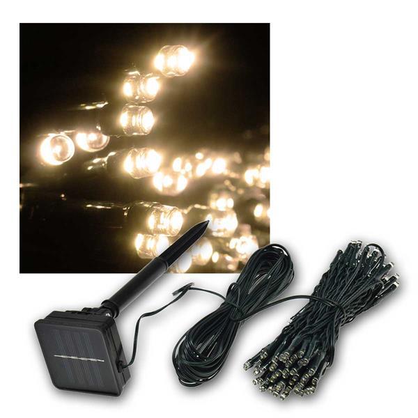 LED Solar-Lichterkette CT-SK100 10m warmweiß IP44