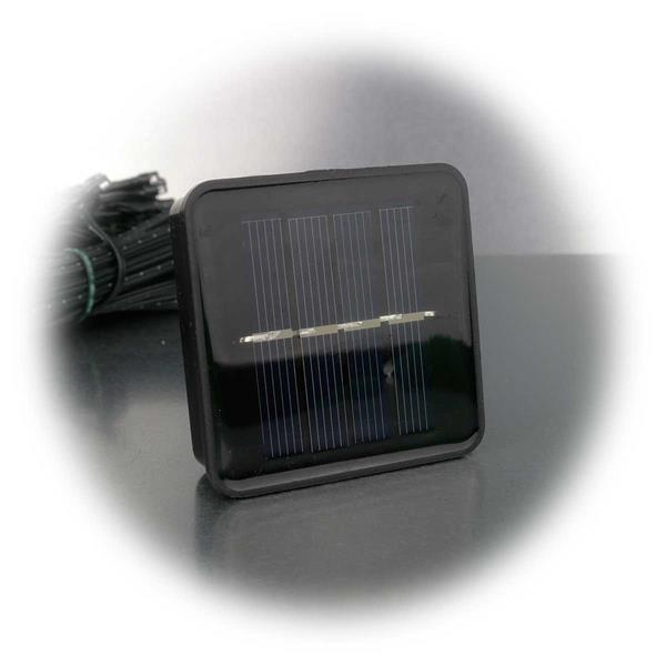 solarbetriebene LED Lichterkette mit Solarpanel