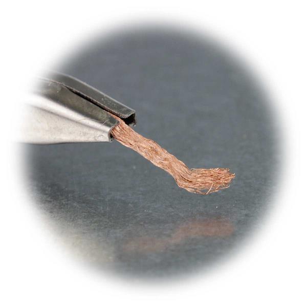 Entlötlitze zu sicheren Säubern von Elektronikbauteilen