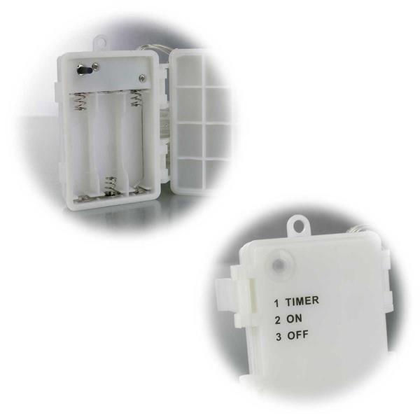 LED Außenlichterketten in 2 Längen solar- oder battereibetrieben