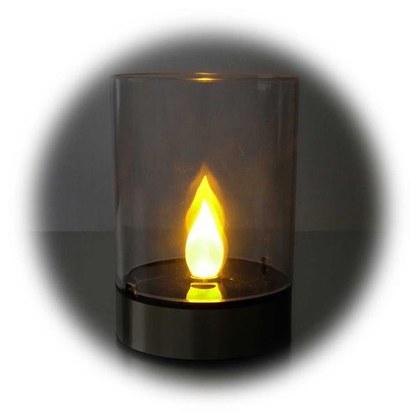 LED Tischleuchte mit realistisch wirkenden Lichtschein