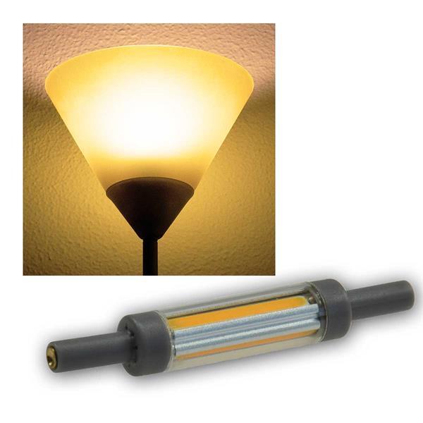 R7s Leuchtstab SLIM 78mm warmweiß 500lm 360° 5W