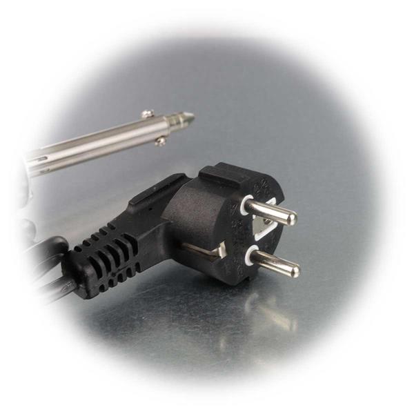 Inbetriebnahme der Entlöt Pumpe erfolgt über ein 230V Netzkabel