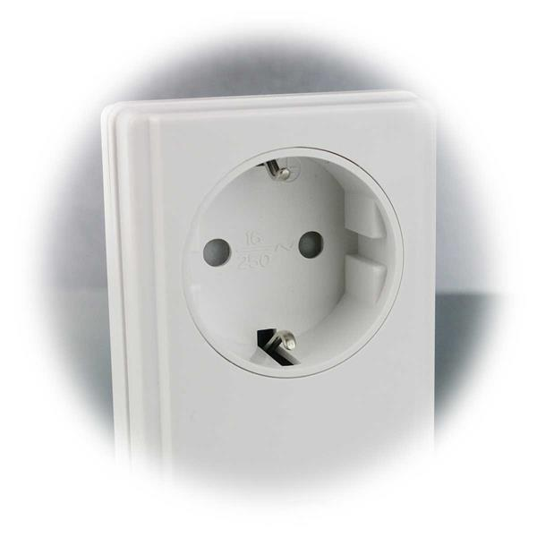 Funkdose für Schutzkontaktstecker mit Schaltleistung von je 5A/1000Watt