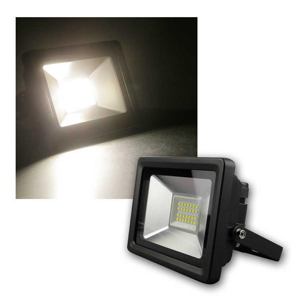 LED Strahler 20W, daylight 1500lm, IP65, schwarz