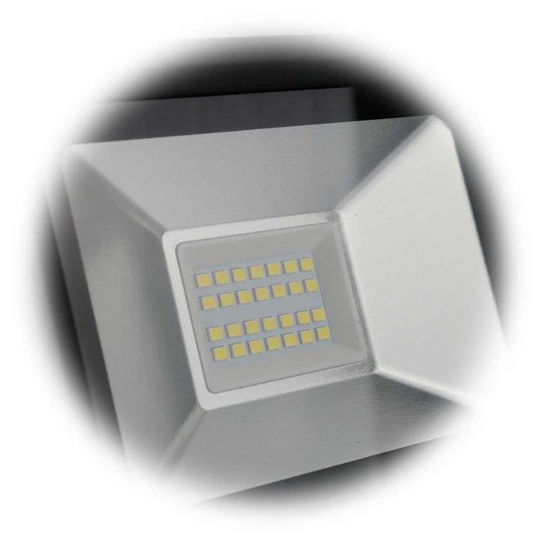 LED Außenstrahler mit SMD LEDs und Schutzkalsse IP65