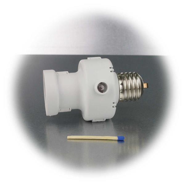 kleiner Dämmerungsschalter mit E27 Sockel zum Einschrauben