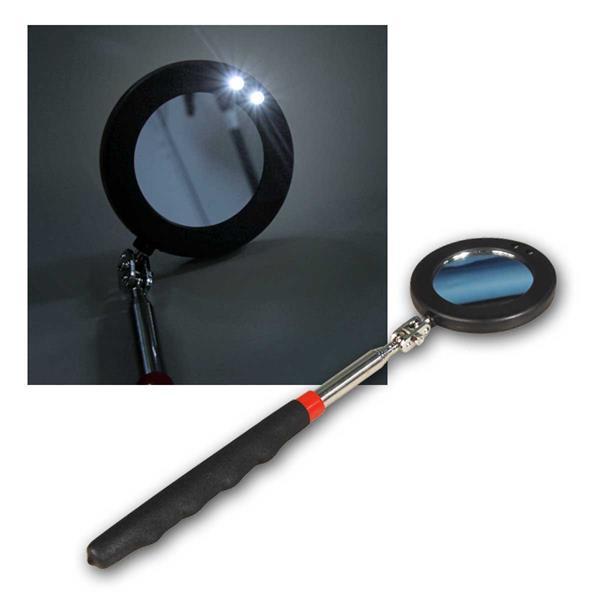 Teleskop Spiegel rund, mit LED Beleuchtung, Ø 50mm