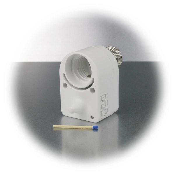 kleiner und kompakter Mikrowellen Bewegungsmelder für E27 Leuchtmittel