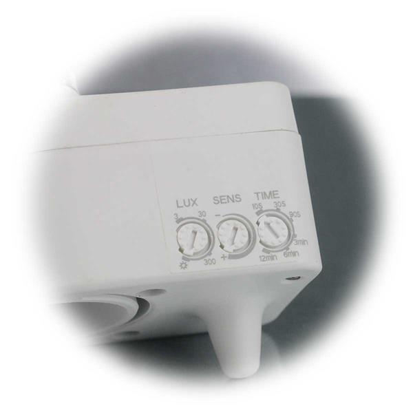 Melder mit einstellbarer Schaltschwelle, Lichtempfindlichkeit und Schaltdauer
