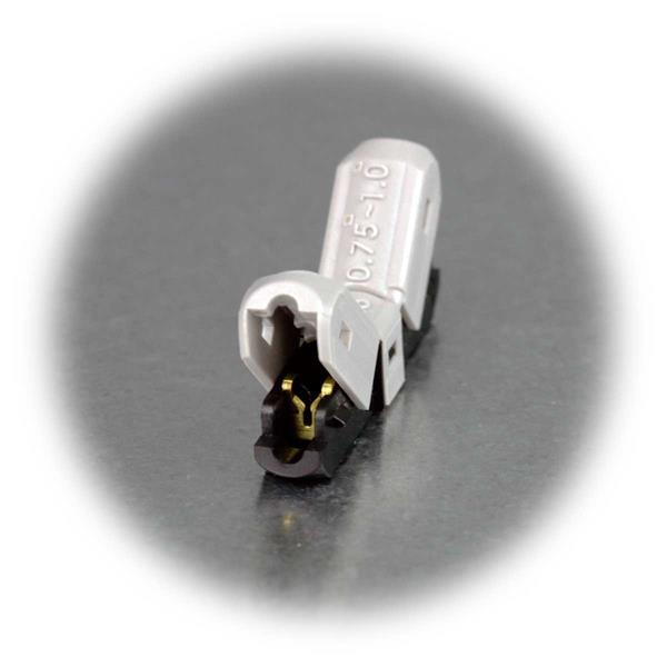 zeitsparende Klemmverbindung für Verlängerung von Stromleitungen
