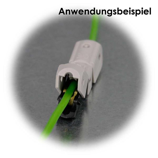 Klemme mit Schneide für Leitungen ohne Abisolierung