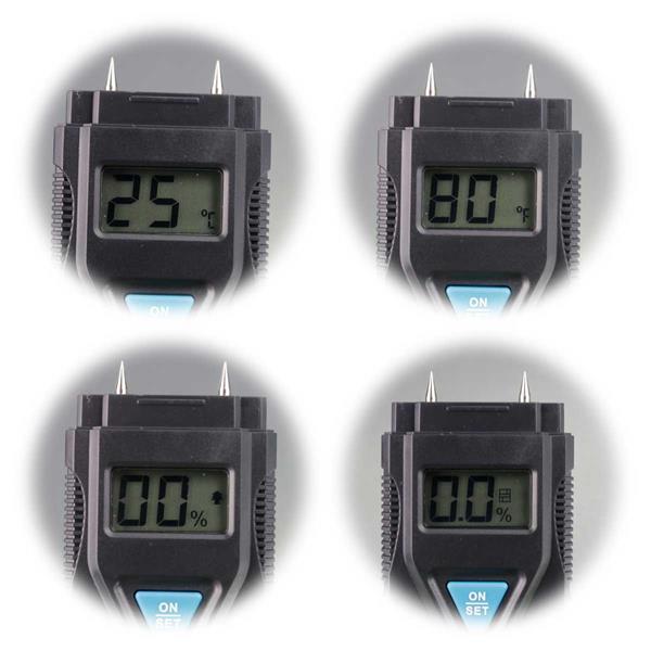 Messgerät mit digitaler Anzeige von Temperatur und Feuchtigkeit
