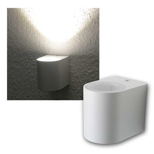 LED Wandleuchte weiß, 1x 3W COB daylight IP44