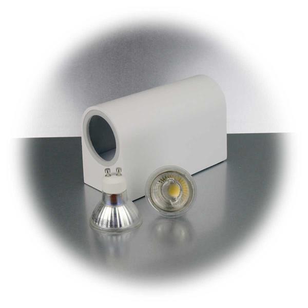 LED Spotleuchte mit zwei 3W GU10 COB LED Leuchtmittel