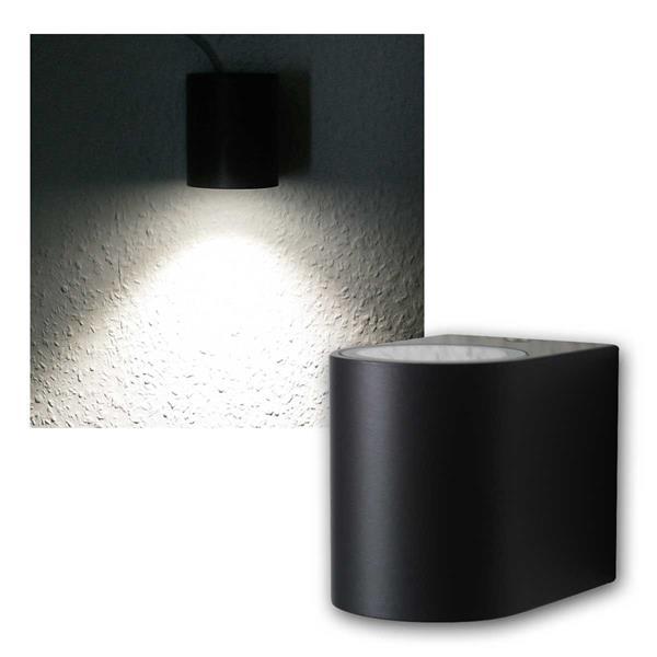 Wandleuchte anthrazit 1xCOB LED kaltweiß IP44 rund