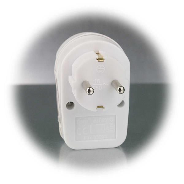 Adapter mit Schutzkontaktstecker für Steckdosen