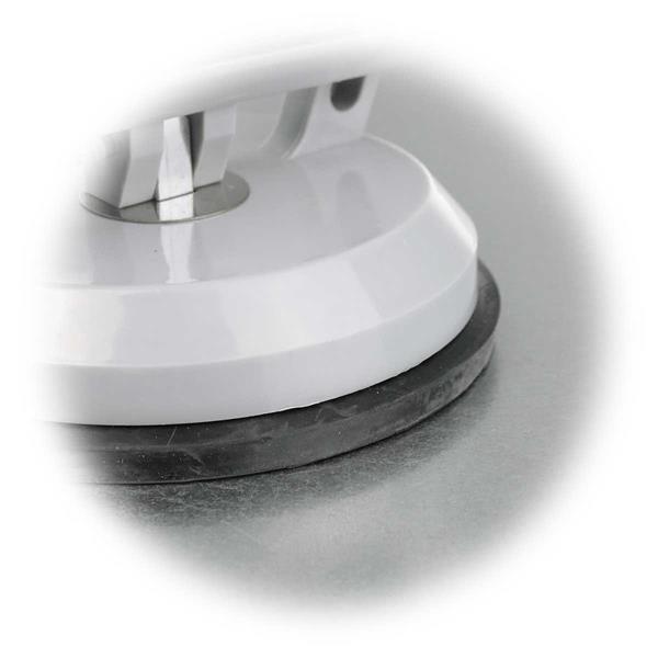 praktisches Tool aus bruchfester Kunststoff mit Saugnapf