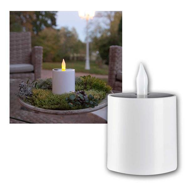 Solar LED Kerze Saul aus Kunststoff für Außen