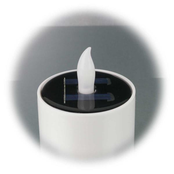 LED Dekokerze mit Solarpanel und Dämmerungssensor