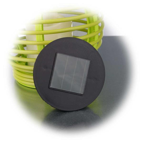 LED Gartenleuchte mit Solarpanel und Dämmerungssensor