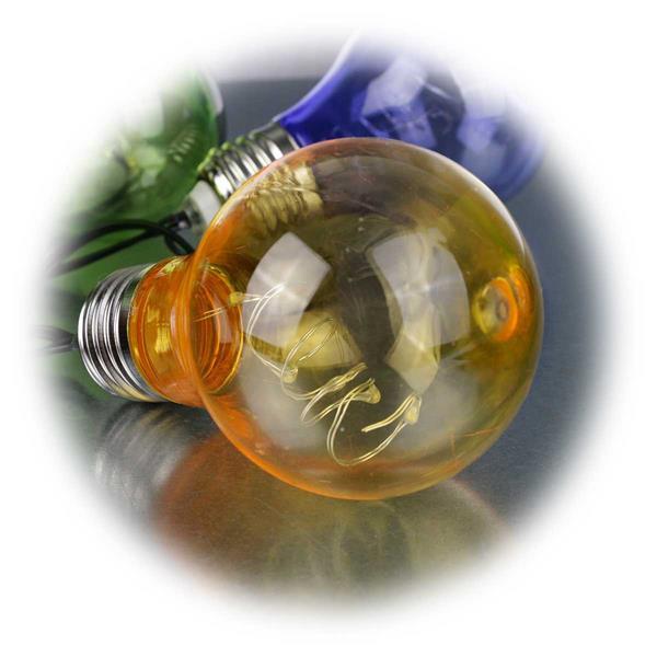 LED Deko Lichterkette mit 10 Leuchtkörpern mit je 5 LEDs