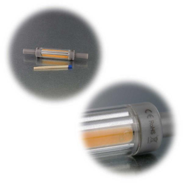 R7s-Leuchtmittel in 2 Leuchtfarben dimmbar oder nicht dimmbar