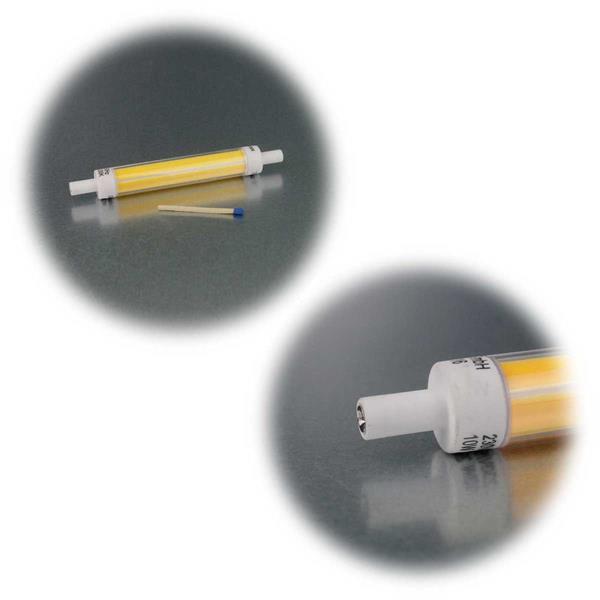 Leuchtstab mit R7s-Sockel leuchtet neutral- oder warmweiß