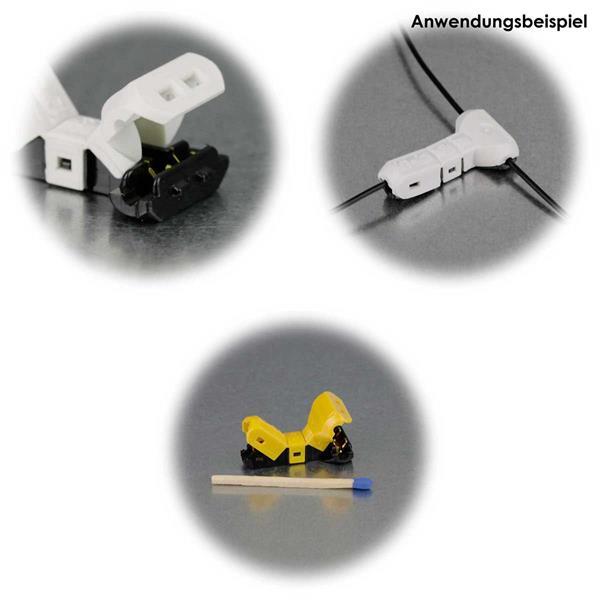 Schneidklemmen verschiedener Größen als I- oder T-Typ