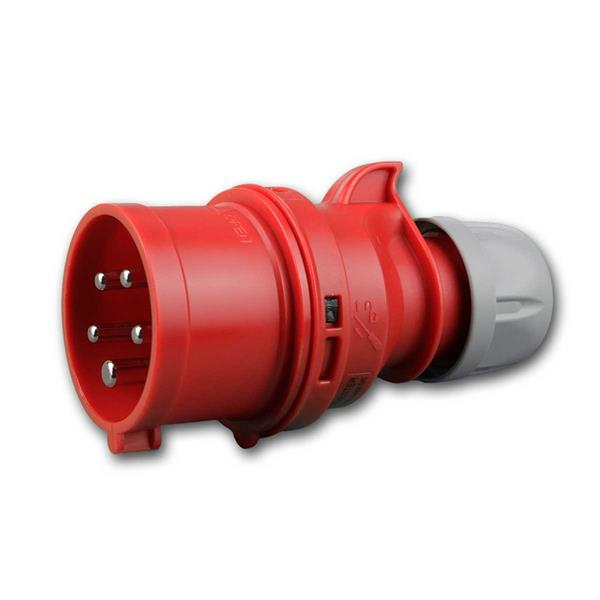 CEE-Stecker Shark Phasenwender, 16A, rot IP44